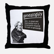 Genealogify Throw Pillow