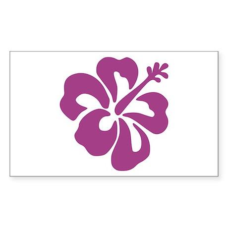 Hibiscus Rectangle Sticker