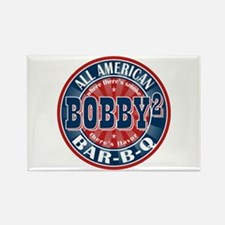 Bobby Squared Barbecue Rectangle Magnet