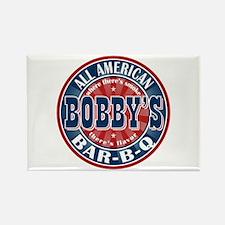 Bobby's All American Bar-b-q Rectangle Magnet