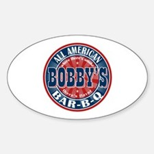 Bobby's All American Bar-b-q Oval Decal