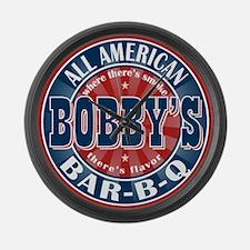 Bobby's All American Bar-b-q Large Wall Clock