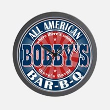 Bobby's All American Bar-b-q Wall Clock