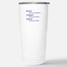 inspire quote - b Travel Mug