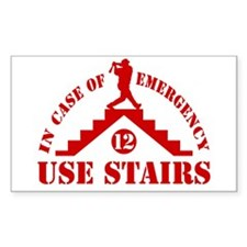 In Emergency Use Stairs Rectangle Decal