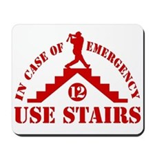 In Emergency Use Stairs Mousepad