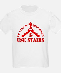 In Emergency Use Stairs T-Shirt