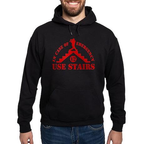 In Emergency Use Stairs Hoodie (dark)