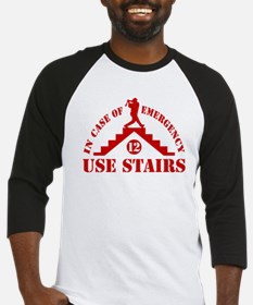 In Emergency Use Stairs Baseball Jersey