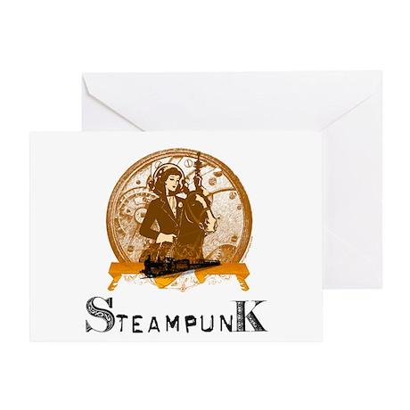 Victorian steampunk space gal Greeting Card