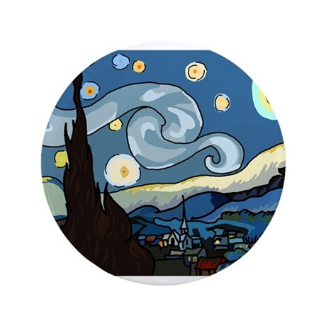 "The Starry Night SFM - 3.5"" Button"