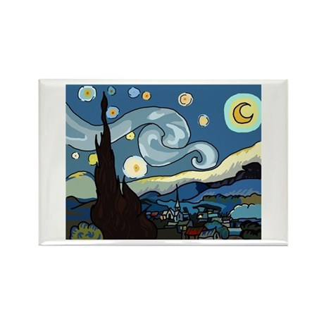 The Starry Night SFM - Rectangle Magnet (10 pack)
