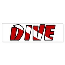 JUST DIVE Bumper Bumper Sticker