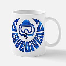 Cave Diver Blue Oil Mug