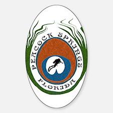 Peacock Springs Scuba Origina Oval Decal