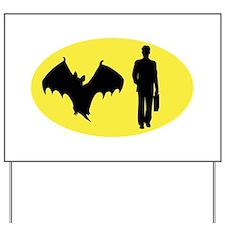 Bat Man Yard Sign