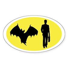 Bat Man Oval Decal
