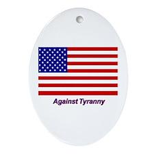 Against Tyranny - Oval Ornament