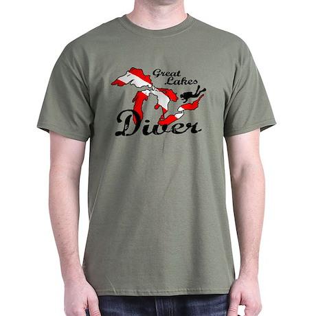 New Great Lakes Diver Dark T-Shirt
