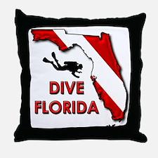 Dive Florida Throw Pillow