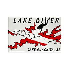 Lake Dive Ouachita, AR Rectangle Magnet