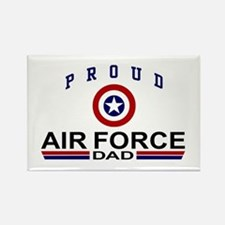 Proud Air Force Dad Rectangle Magnet
