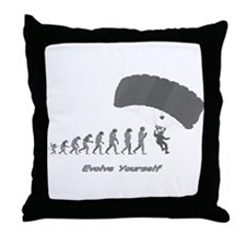 """Skydiving Evolution"" Throw Pillow"