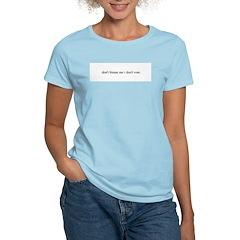 non-voter Women's Pink T-Shirt