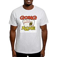 Euchre Going Alone Ash Grey T-Shirt