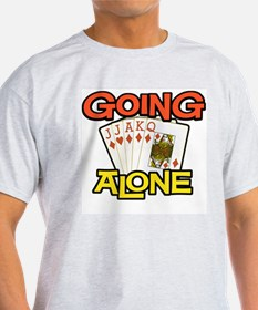 Euchre Going Alone Ash Grey T-Shirt