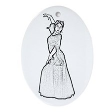 Flamenco Dancer Oval Ornament
