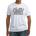 White Dragon Fitted T-Shirt