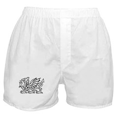 White Dragon Boxer Shorts
