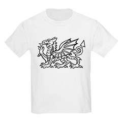 White Dragon Kids T-Shirt