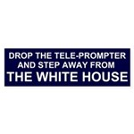 Drop the Tele-Prompter Bumper Sticker (50 pk)