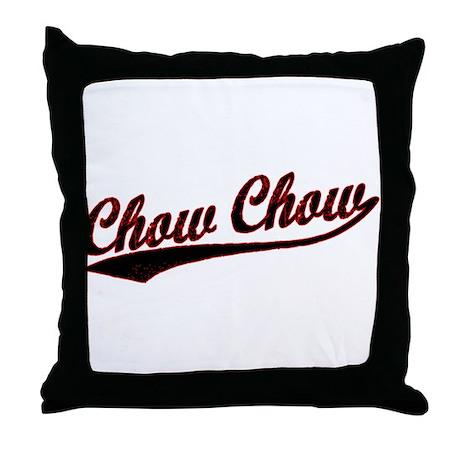 Chow Chow Varsity Throw Pillow