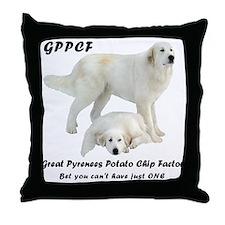 Great Pyrenees Potato Chip Throw Pillow