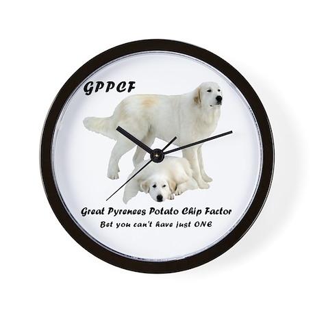 Great Pyrenees Potato Chip Wall Clock