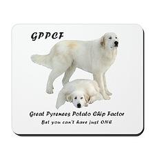 Great Pyrenees Potato Chip Mousepad