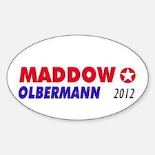 MADDOW OLBERMANN Oval Decal