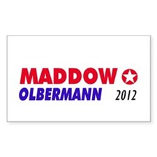 MADDOW OLBERMANN Rectangle Decal