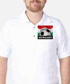 Hungary Football Golf Shirt