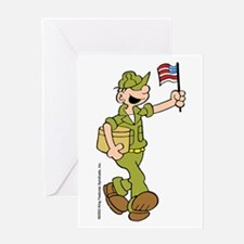 Flag-waving Beetle Greeting Card