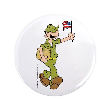 "Flag-waving Beetle 3.5"" Button"