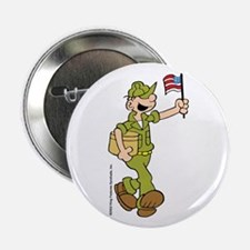 "Flag-waving Beetle 2.25"" Button"