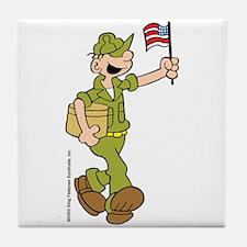Flag-waving Beetle Tile Coaster