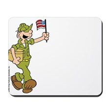 Flag-waving Beetle Mousepad