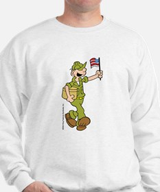 Flag-waving Beetle Sweatshirt