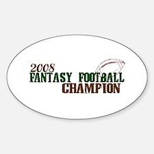 Fantasy Football Championship 2008 Oval Decal