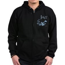 Jazz Trumpet Blue Zip Hoody
